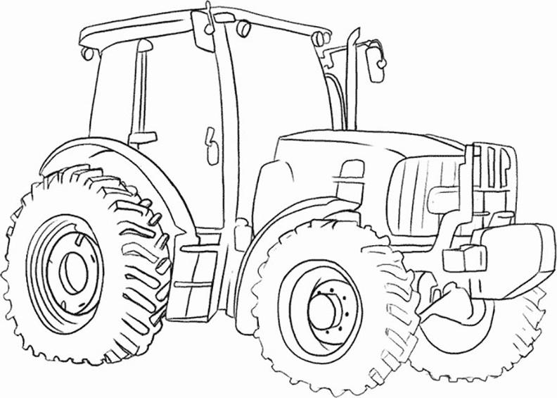 ausmalbilder traktor 2  ausmalbilder kostenlos
