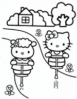 Ausmalbilder Hello Kitty 1
