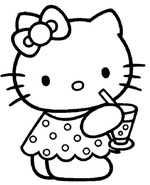 Ausmalbilder Hello Kitty 3