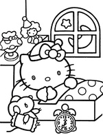 Ausmalbilder Hello Kitty 7