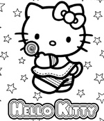 Ausmalbilder Hello Kitty 11