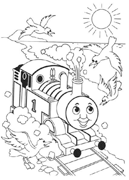 ausmalbilder thomas die lokomotive 5  thomasdie
